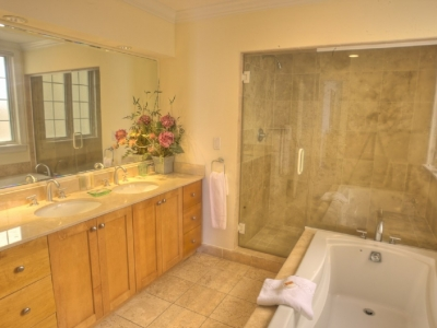 A typical master bathroom in our 3 bedroom suites