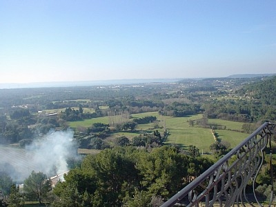 View from balcony over Provencal countryside