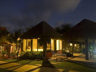 The Palapa at night