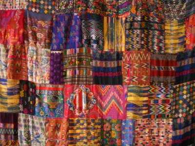 Colorful quilt from Chiapas