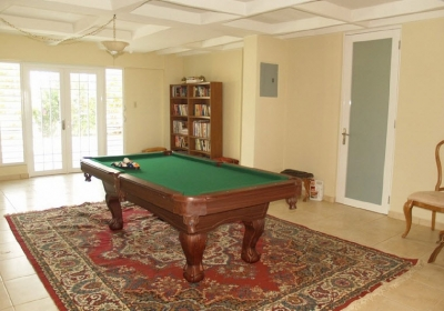 1st FL. pool table and door to bedroom