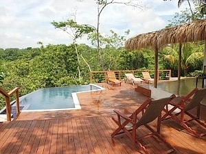 Pool deck - Breathtaking jungle and ocean views.