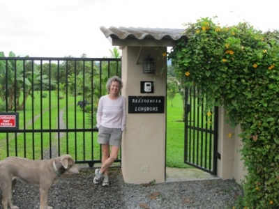 Lynn and Loki at the main gate