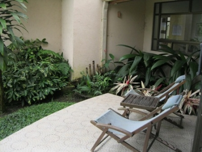 Private garden area off the patio