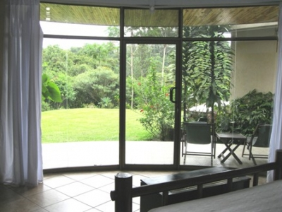 View to the patio