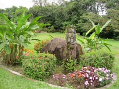 Just one of the flower gardens on the property