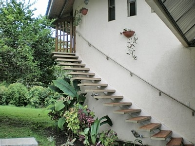 Entry from the covered parking
