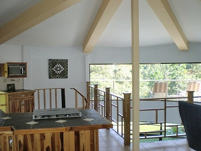 Living area is open to below
