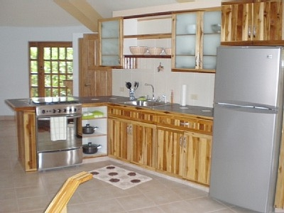 Kitchen with standard size appliances