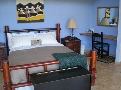 Downstairs with writing desk
