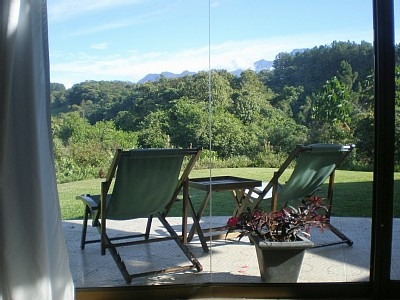 Comfortable seating on the patio