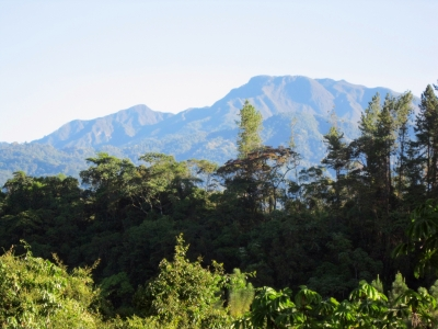 View of Volcan Baru from upstairs deck