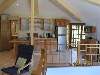 Kitchen area from upstairs living